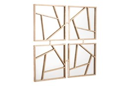 Four Geometric Panel Wall Mirror