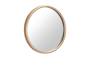 Small Gold Round Minimalist Wall Mirror