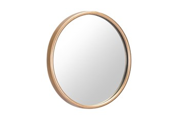 Small Gold Round Minimalist Wall Mirror