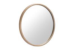 Large Gold Round Minimalist Wall Mirror
