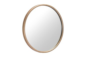 Large Gold Round Minimalist Wall Mirror