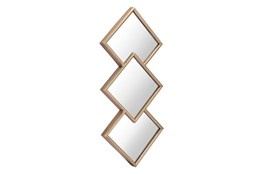 Layered Diamond Shape Wall Mirror