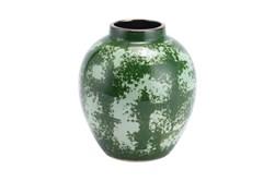 8 Inch Green Distressed Vase