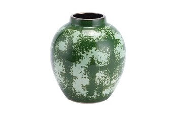 8 Inch Green Distressed Vase