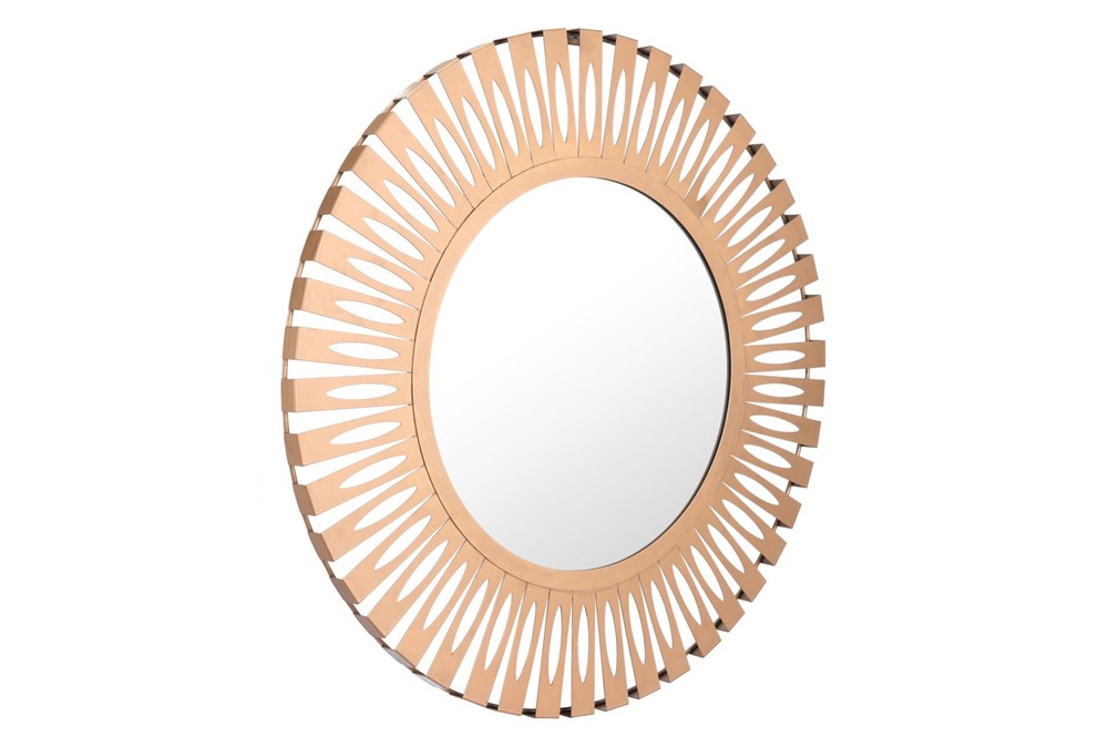 Circle Patterend Edges Wall Mirror