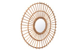 Rattan Sunburst Wall Mirror