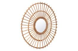 Rattan Sunburst Wall Mirror