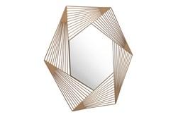 Lined Hexagon Wall Mirror
