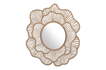 Lined Flower Wall Mirror