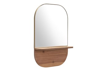 Shelved Wall Mirror