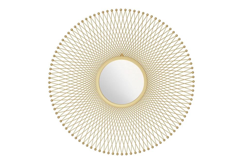 Gold Round Glow Wall Mirror