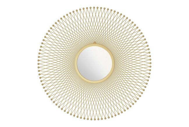 Gold Round Glow Wall Mirror - 360