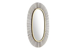 Black And Gold Oval Wall Mirror