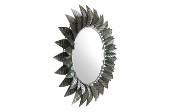 Circle Leaf Wall Mirror
