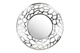 Silver Cut Out Wall Mirror