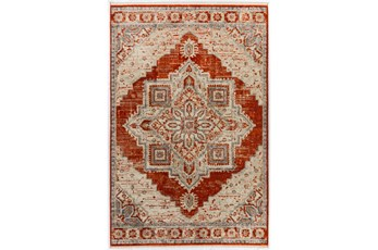90X116 Rug-Marseille Distressed Mandarin