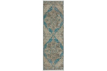 27X92 Runner Rug-Marseille Distressed Ocean