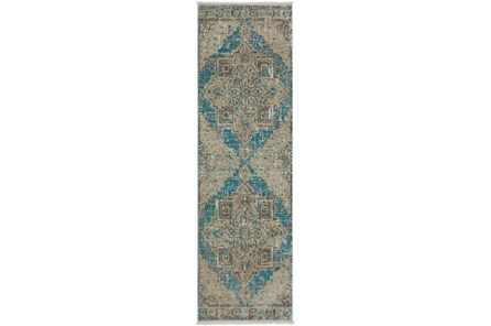 27X92 Runner Rug-Marseille Distressed Ocean - Main
