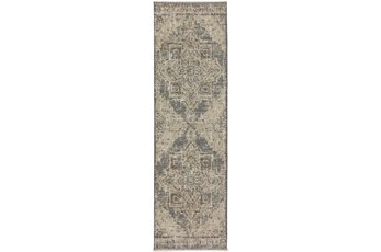 27X92 Runner Rug-Marseille Distressed Pewter