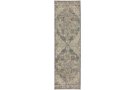27X92 Runner Rug-Marseille Distressed Pewter - Main