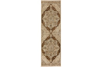 27X92 Runner Rug-Marseille Distressed Walnut