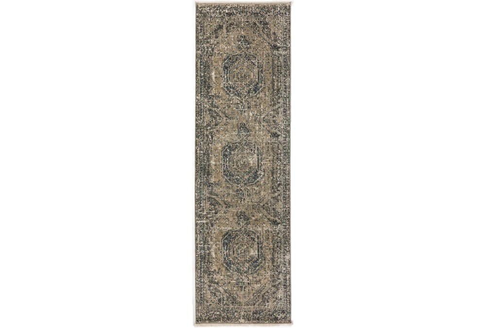 "2'3""x7'7"" Runner Rug-Marseille Distressed Taupe"