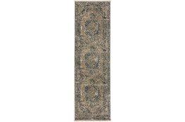 """2'3""""x7'7"""" Runner Rug-Marseille Distressed Taupe"""