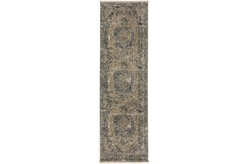 27X92 Runner Rug-Marseille Distressed Taupe