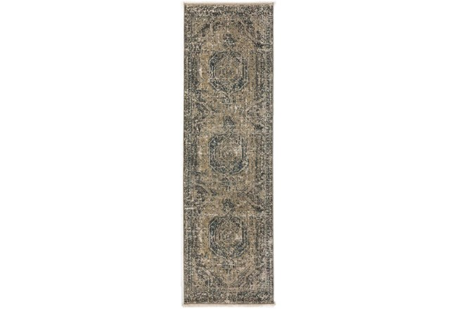 "2'3""x7'7"" Runner Rug-Marseille Distressed Taupe - 360"