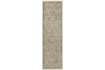 27X92 Runner Rug-Marseille Distressed Ivory