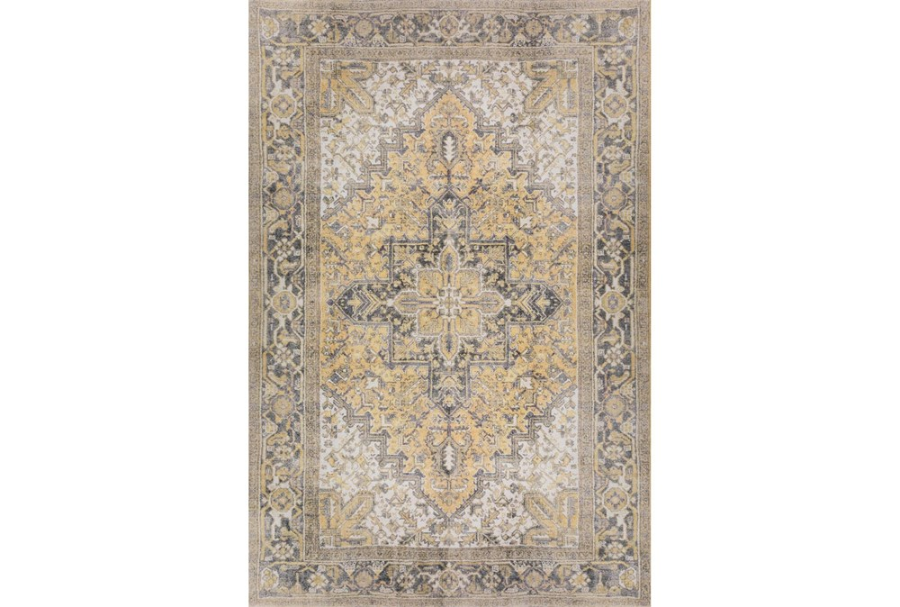 """2'3""""x7'6"""" Runner Rug-Sterling Distressed Gold"""