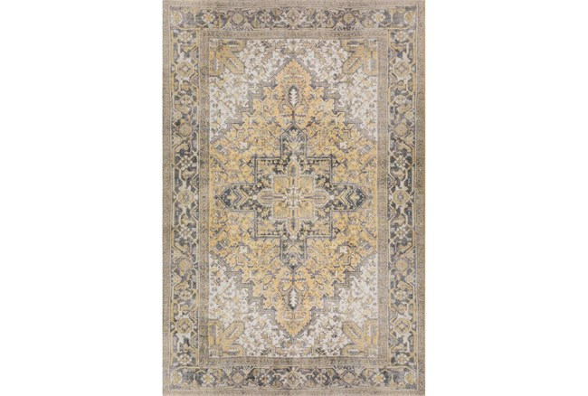 """2'3""""x7'6"""" Runner Rug-Sterling Distressed Gold - 360"""