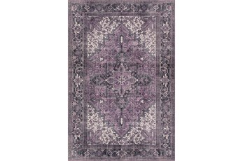 94X118 Rug-Sterling Distressed Plum