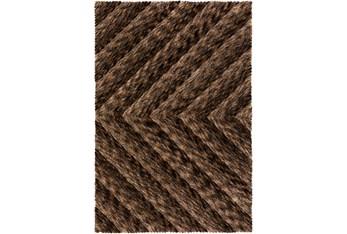 "5'x7'5"" Rug-Karash Lines Chocolate"