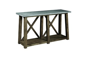 Concrete Top Console Table