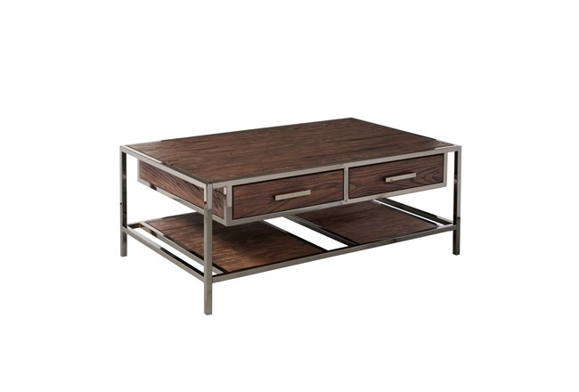 Modern Industrial Cocktail Table - 360