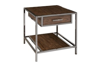 Modern Industrial End Table