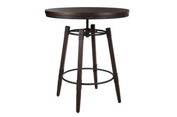 Industrial Adjustable Height Bar Table