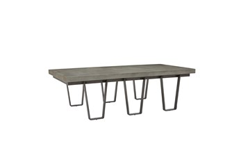 Casual Industrial Concrete Top Cocktail Table