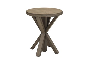 Light Oak Plank Top End Table