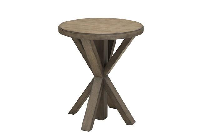 Light Oak Plank Top End Table - 360