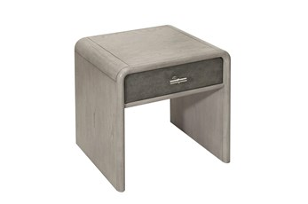 Grey Oak And Shagreen End Table