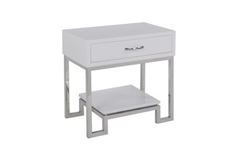 High Gloss White Chairside Table