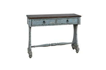 Two Tone Entryway Console Table
