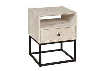 One Drawer Open Shelf End Table