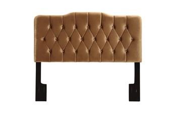 Full/Queen Diamond Tufted Upholstered Headboard-Bronze