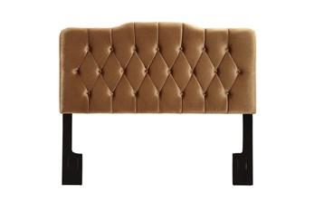 Full/Queen Bronze Louis Botton Diamond Tufted Upholstered Headboard