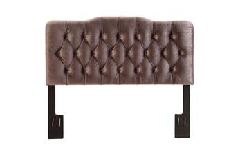 Eastern King Slate Louis Button Diamond Tufted Upholstered Headboard