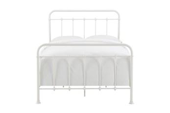 White Farmhouse Full Metal Bed