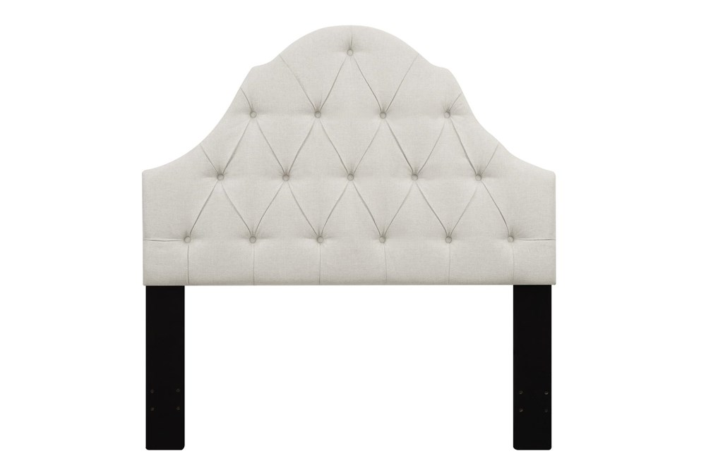 Full/Queen Tufted Arch Upholstered Headboard-Beige